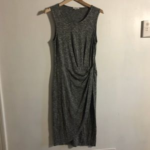 Bar iii Gray Knit Midi Dress